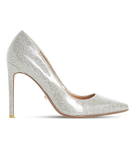 DUNE Amalfie glitter patent court shoes (Gold-glitter