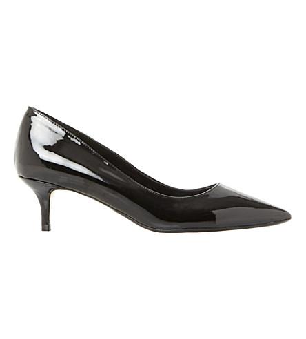 DUNE Alesandra patent leather kitten heel court (Black-patent