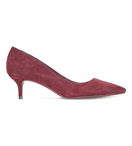 DUNE Alesandra suede courts (Berry-suede