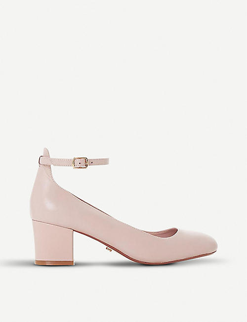DUNE Allie suede block heel courts