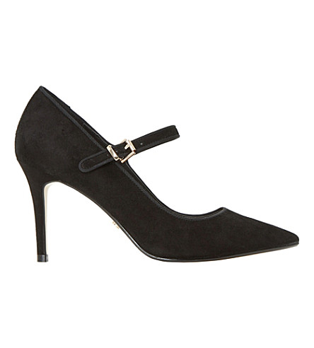 DUNE Abbeyroad suede mary jane courts (Black-suede