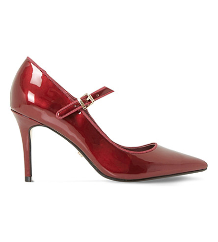 DUNE Abbeyroad patent leather Mary-Jane courts (Burgundy-patent