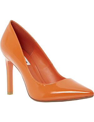 DUNE Alwen pointed toe patent court shoe