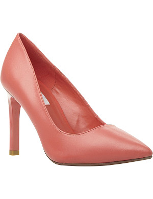 DUNE Alwen high heel leather court shoe