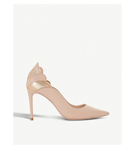 DUNE Aerielle scalloped suede courts (Blush-suede
