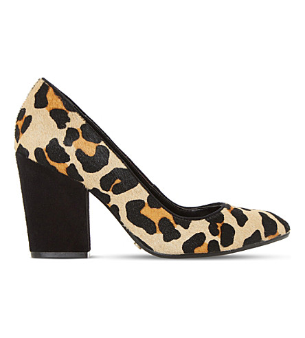 DUNE Alberta leopard print court shoes