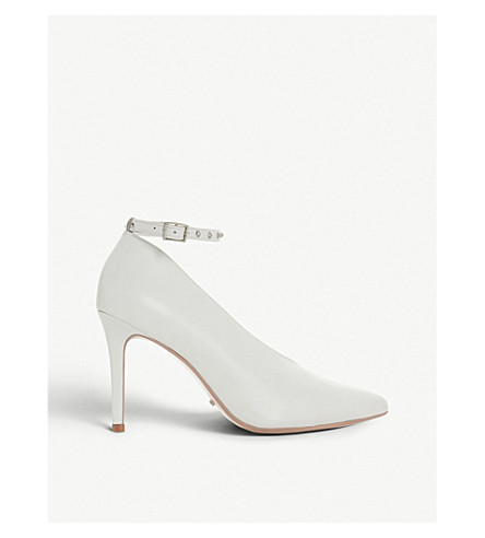 DUNE Ara studded high-vamp leather courts (White-leather