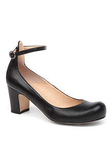 DUNE Agile mid-heel leather courts