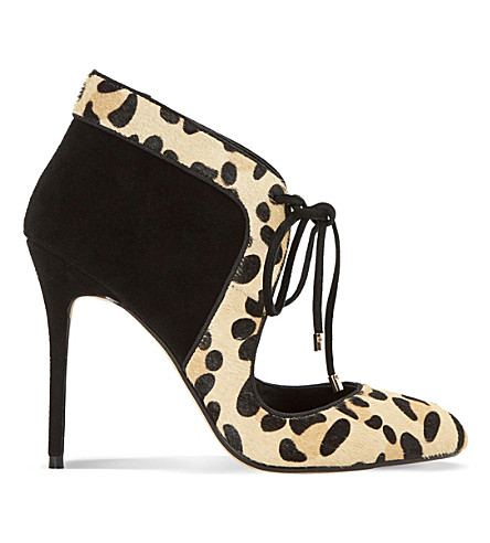 DUNE Arizona suede & pony courts (Leopard-pony