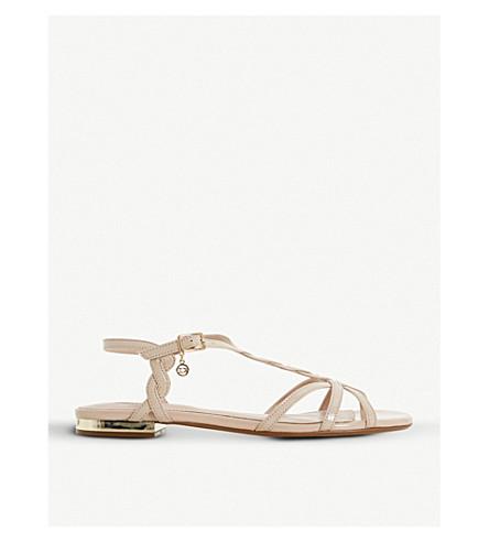 DUNE Newark strappy metallic sandals (Blush-patent+synthetic