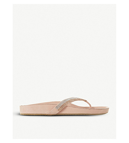 DUNE Noticed embellished sandals (Blush-synthetic