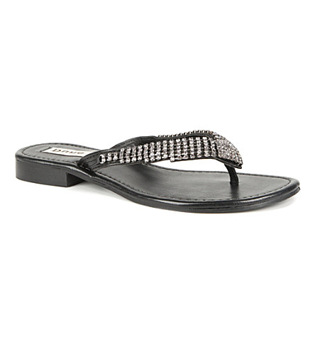 DUNE Keeper embellished sandals (Black-leather