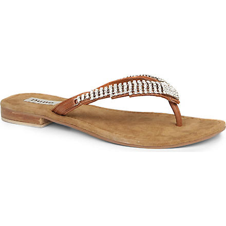 DUNE Keeper embellished sandals (Tan-leather