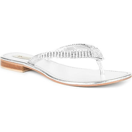 DUNE Keeper embellished sandals (Silver-leather