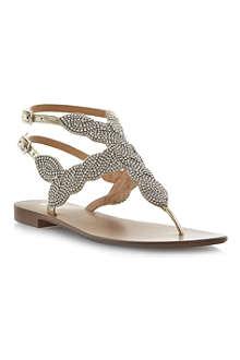 DUNE Karper beaded sandals
