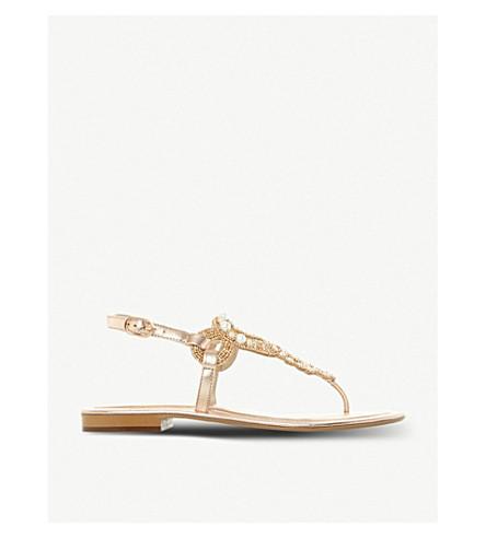 DUNE Neverland faux-pearl embellished sandals (Rose+gold-metallic