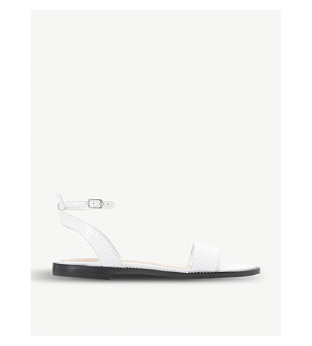 DUNE Nance reptile-effect leather sandals