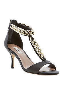 DUNE Heroine chain leather sandals