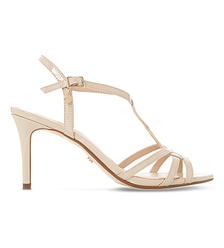 DUNE Miniee strappy heeled sandals (Nude-patent