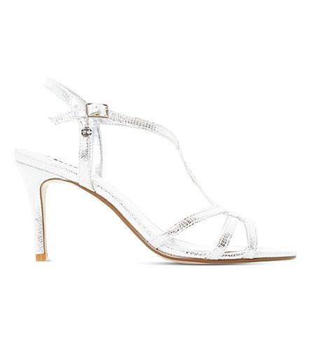 DUNE Miniee reptile-effect metallic sandals (Silver-metallic