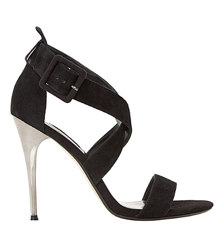DUNE Melisa suede stiletto sandals (Black-suede