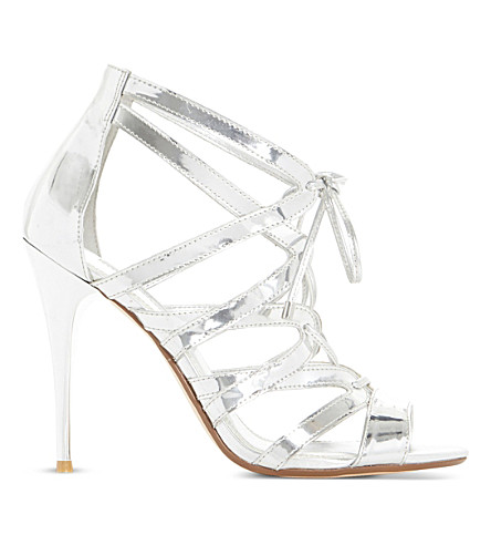 DUNE Mila ghillie lace up sandal (Silver-synthetic