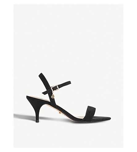 DUNE Monnrow strappy suede sandals (Black-suede