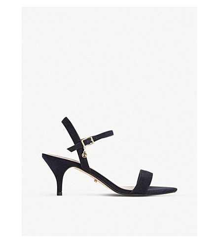 DUNE Monnrow strappy suede sandals (Navy-suede