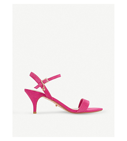 DUNE Monnrow strappy suede sandals (Pink-suede