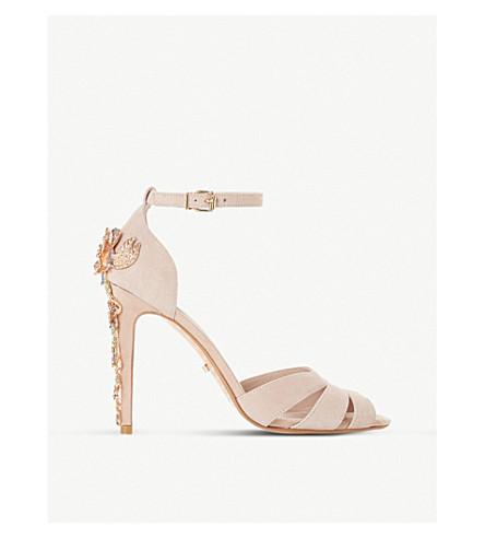DUNE Maisonn embellished-heel sandals (Blush-suede