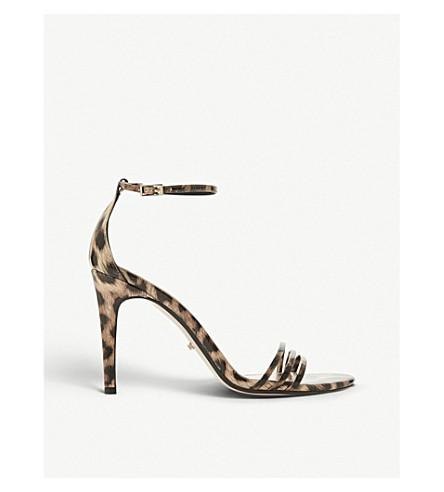 DUNE Marabella patent leopard-print heeled sandals (Leopard-pony