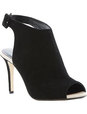 DUNE Hermia suede high vamp peep toe sandals