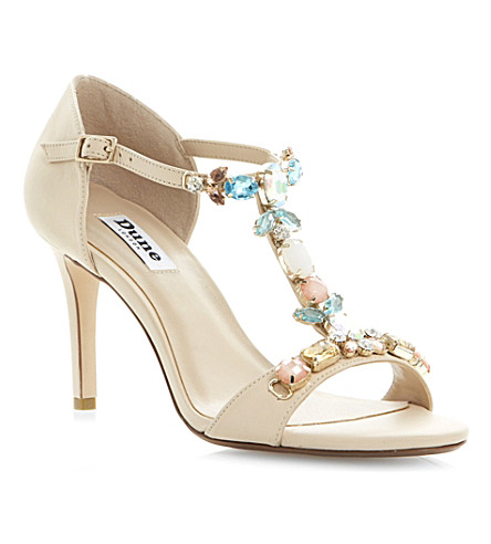 DUNE Hummingbird T-bar sandals (Nude-leather