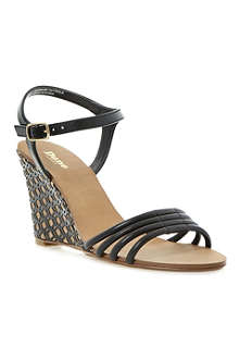 DUNE Hath caged wedge sandals