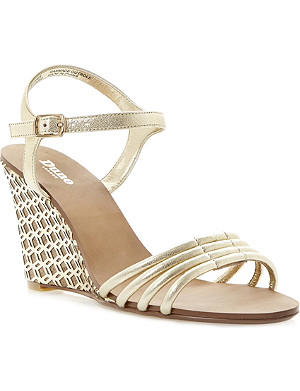 DUNE Hath wedge strappy sandals