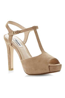 DUNE Harlane suede heeled sandals