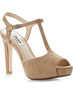DUNE Harlane suede heeled sandals