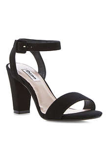 DUNE Harpers ankle block-heeled sandals