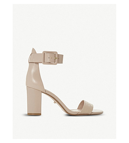 DUNE Mirror leather heeled sandals (Nude