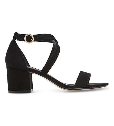 DUNE Montie criss-cross suede sandals (Black-suede