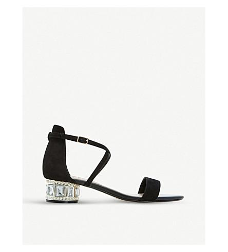 DUNE Mermaid embellished suede sandals (Black-suede