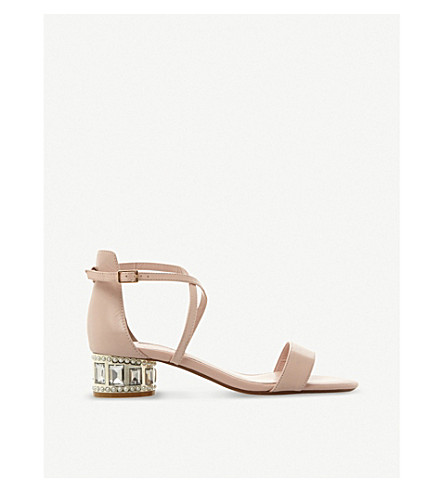 DUNE Mermaid embellished suede sandals (Blush-leather