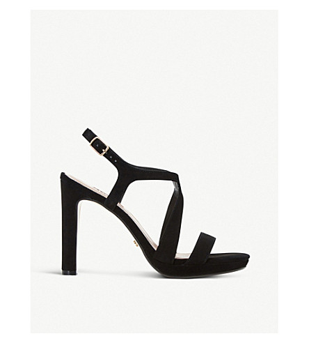DUNE Maya suede high heel sandals (Black-suede