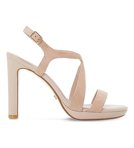 DUNE Maya suede high heel sandals (Blush-suede