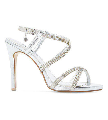 DUNE Mansionn leather high heeled sandals (Silver-leather