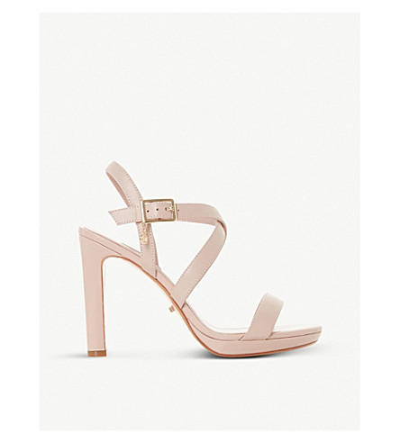 DUNE Misstee cross-strap leather heels (Blush-leather