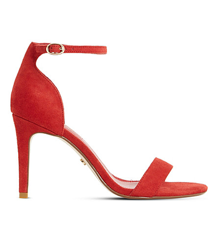 DUNE Mortimer suede sandals (Red-suede