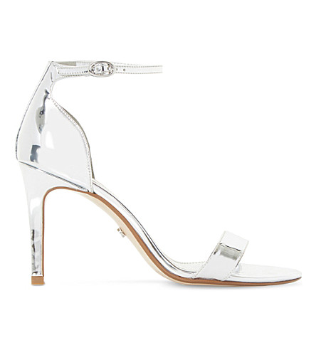 DUNE Mortimer metallic sandals (Silver-metallic