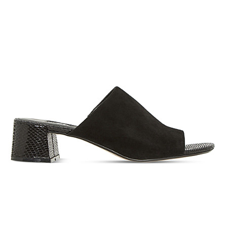 DUNE Mosco two-tone suede mules (Black-suede
