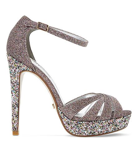 DUNE Mixi glitter platform sandals (Multi-glitter